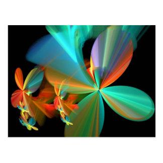 Pétalas alaranjadas da flor da arte do Fractal da Cartão Postal