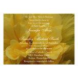pétalas amarelas da flor 5x7 que Wedding o convite