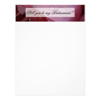 Pétalas cor-de-rosa cor-de-rosa modelo de papel de carta