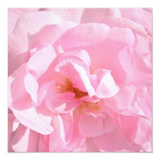 pétalas cor-de-rosa rosas pálido convite quadrado 13.35 x 13.35cm