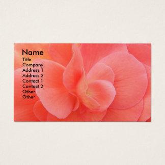 Pétalas da flor florais cartão de visitas