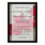 Pétalas de rosa vermelha do Lg no casamento de Convite Personalizados