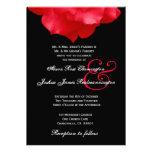 Pétalas de rosa vermelha que Wedding o convite F20