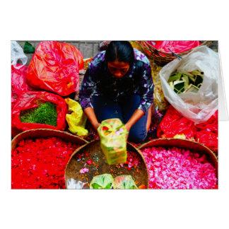 Pétalas para oferecer, Bali da flor Cartão Comemorativo
