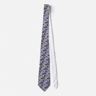 Pétalas roxas gravata