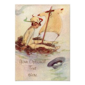 Peter Pan na jangada do ninho - convite do bebê