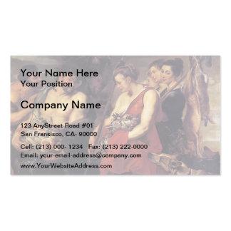 Peter Paul Rubens-Diana Presentig a captura a filt Cartão De Visita
