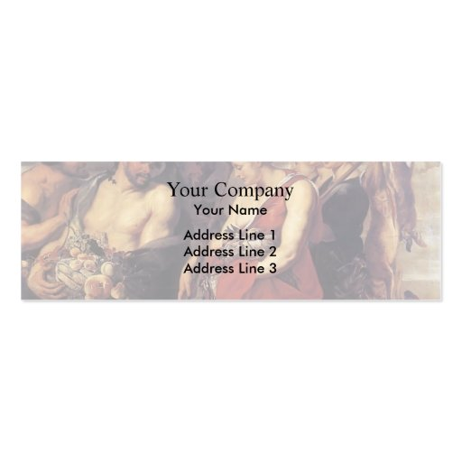 Peter Paul Rubens-Diana Presentig a captura a filt Cartoes De Visitas