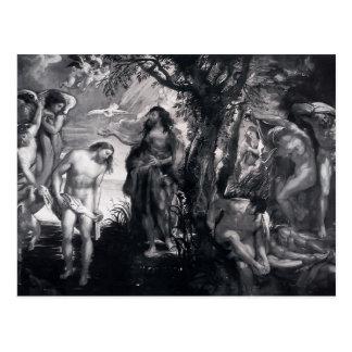 Peter Paul Rubens- o baptismo do cristo Cartão Postal