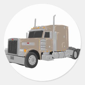 peter tan construiu o caminhão adesivos redondos