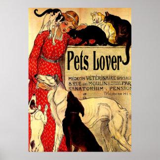 pets o amante, poster vintage