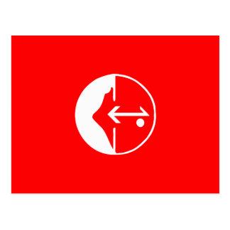 Pflp, bandeira política de Colômbia Cartão Postal