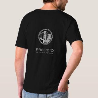 PGS V preto - pescoço T Camisetas