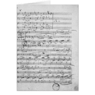 Phantasiestucke, opus, para o piano cartão comemorativo