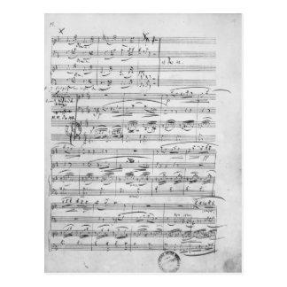 Phantasiestucke, opus, para o piano cartão postal