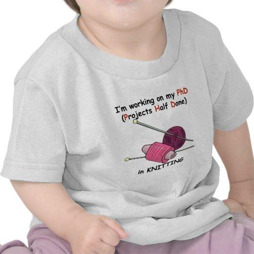 PhD na confecção de malhas Camisetas
