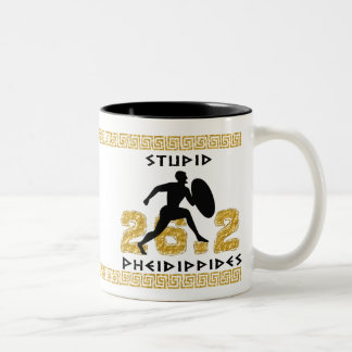 Pheidippides estúpido caneca de café em dois tons