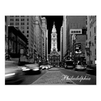 Philadelphfia no cartão da noite
