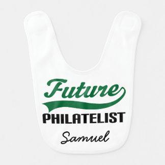 Philatelist futuro babador personalizado do bebê