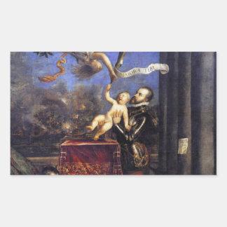 Philip II Don de oferecimento Fernando à vitória Adesivo Retangular