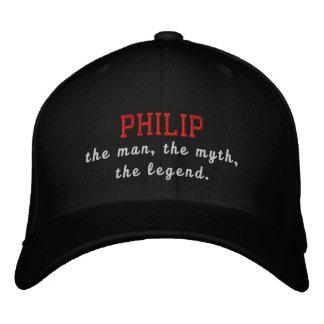 Philip o homem, o mito, a legenda boné bordado