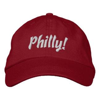Philly! Boné em vermelho e em branco