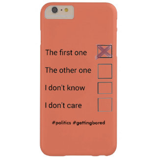 Phonecase político capa barely there para iPhone 6 plus