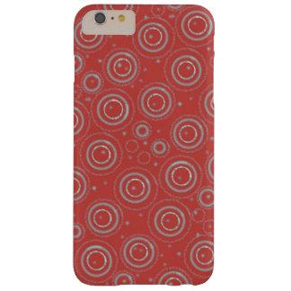 Phonecase vermelho e de prata capa barely there para iPhone 6 plus
