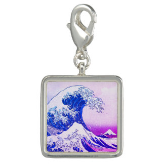 Photo Charm A grande onda fora de Kanagawa