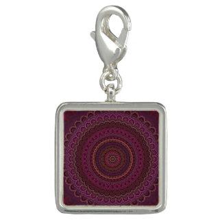 Photo Charm Mandala roxa escura