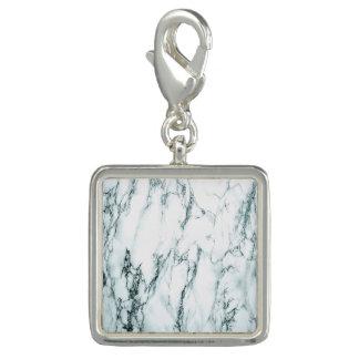 Photo Charm Olhar escuro do mármore da veia de turquesa