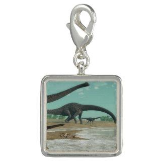 Photo Charm Rebanho dos dinossauros do Diplodocus - 3D rendem