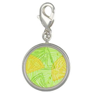 Photo Charm Teste padrão brilhante dos limões do citrino do