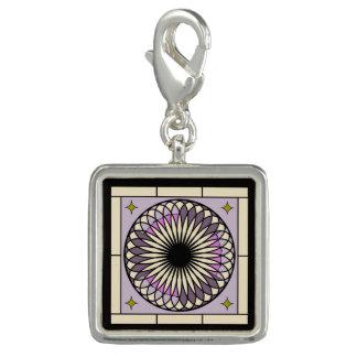 Photo Charms Design roxo espiral de Deco