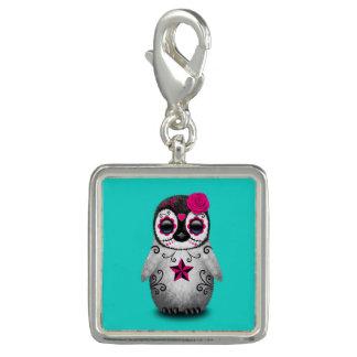 Photo Charms Dia cor-de-rosa do pinguim inoperante do bebê