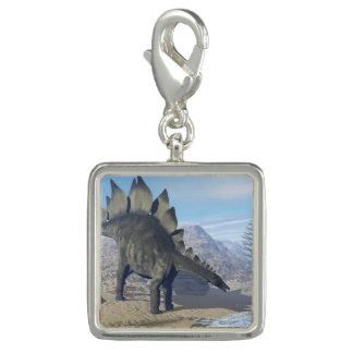 Photo Charms Dinossauro do Stegosaurus - 3D rendem