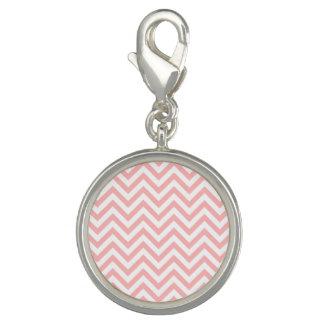 Photo Charms O ziguezague cor-de-rosa e branco listra o teste