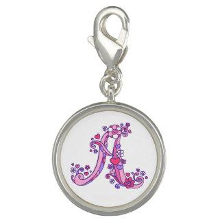 Photo Charms Rotule o encanto lunático roxo do rosa do