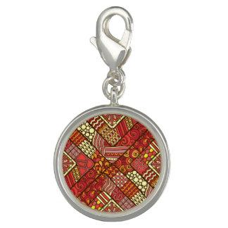 Photo Charms Teste padrão asteca tribal abstrato do vermelho
