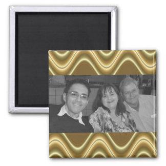photoframe da onda do ouro ímã quadrado