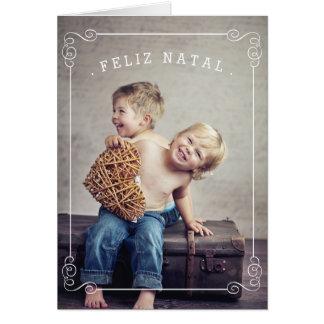 Photokarte aquele Felizes Natais Cartão Comemorativo
