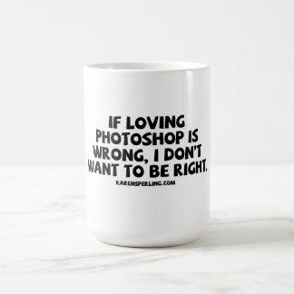 Photoshop de amor caneca
