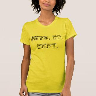Phys. Ed. Serviço Distressed, preto Tshirt