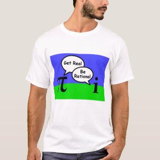 pi e número imaginário - obtenha real, seja camiseta
