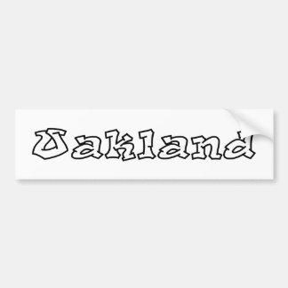 Pia batismal dos grafites de Oakland Adesivo