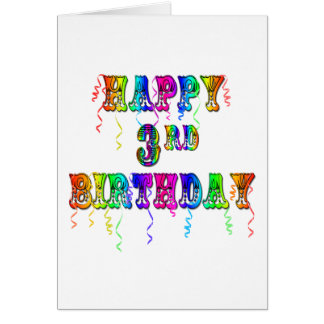 Pia batismal feliz do circo do aniversário de 3 an cartão
