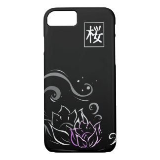 Pia batismal japonesa de flor de Lotus no fundo Capa iPhone 7