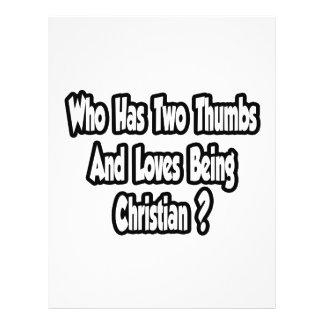 Piada cristã do orgulho… dois polegares panfleto personalizados