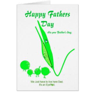 Piada da ervilha do cartão do dia dos pais