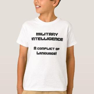 Piada da inteligência militar camiseta